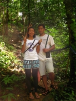 My Frog Prince and I along the Lagen hiking trail
