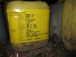 The labeled jugs, all set to be transported