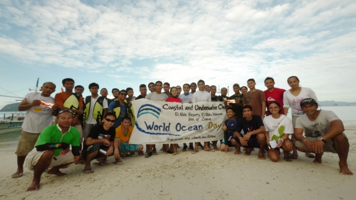 The victorious afternoon volunteers from Miniloc and Lagen Island Resorts. Photo by Bobbit Suntay.