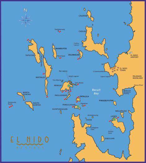 Bacuit Bay Map - diving, PIR, no Tres Marias with ENR logo_small