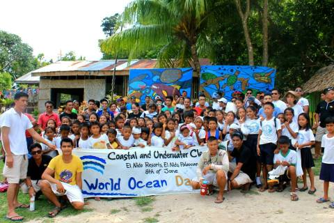 The eager participants of Sitio Kiminawit, Brgy. Bebeladan, El Nido, Palawan at World Ocean Day 2015
