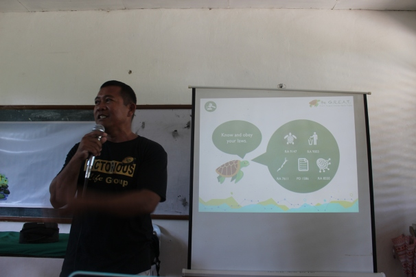 By the way, it's also Environmental Enforcement Officer Kuya Rey's first crack at enlightening students about the environmental laws of Palawan.