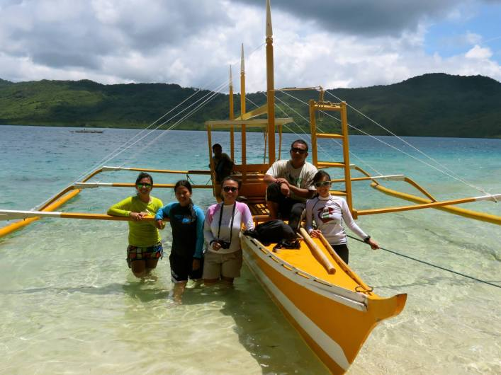The environmental officers of Pangulasian Island, Apulit Island, Miniloc Island, Lagen Island with environmental enforcement officer Rey Reyes