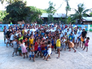 Our growing family: With the Sitio Kiminawit community.
