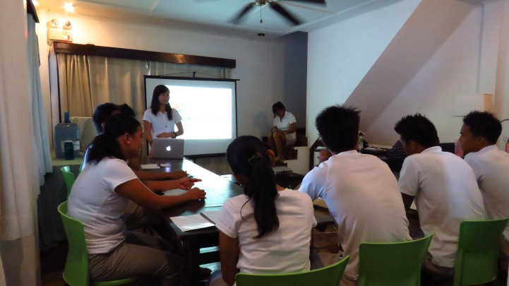 Attentive aren't they? The participants of Batch 2 Nature Interpretation Training on their first day of lecture.